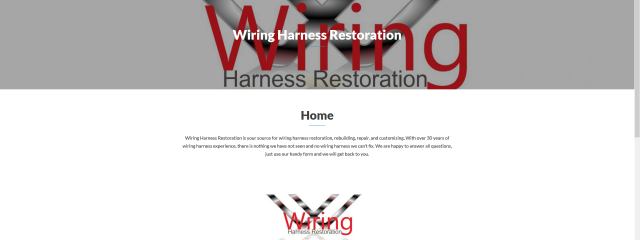 Wiring Harness Restoration Website